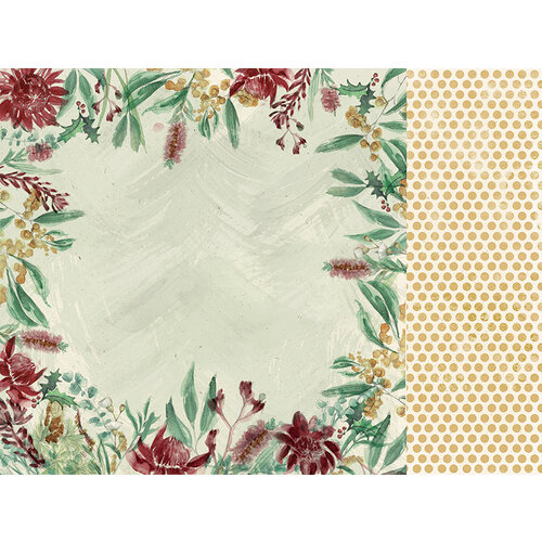 Kaisercraft - Christmas - Under The Gum Leaves Collection - 12 x 12 Double Sided Paper - Bottle Brush