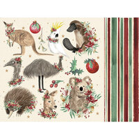 Kaisercraft - Christmas - Under The Gum Leaves Collection - 12 x 12 Double Sided Paper - Fauna
