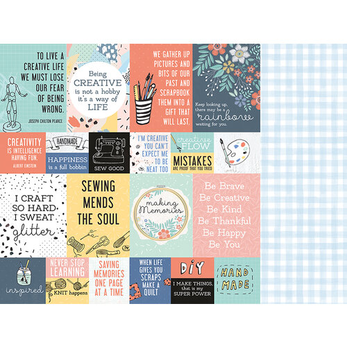Kaisercraft - Crafternoon Collection - 12 x 12 Double Sided Paper - DIY