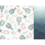 Kaisercraft - Uncharted Waters Collection - 12 x 12 Double Sided Paper - Oceanic