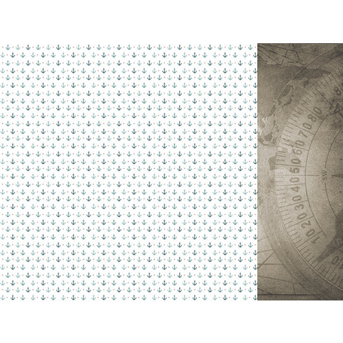 Kaisercraft - Uncharted Waters Collection - 12 x 12 Double Sided Paper - Aquatic