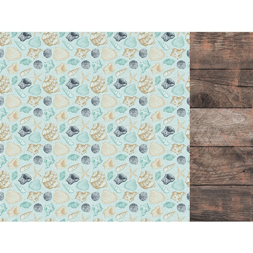 Kaisercraft - Uncharted Waters Collection - 12 x 12 Double Sided Paper - Tide Pool