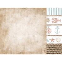 Kaisercraft - Uncharted Waters Collection - 12 x 12 Double Sided Paper - Sea Shore