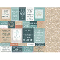 Kaisercraft - Uncharted Waters Collection - 12 x 12 Double Sided Paper - Shallows