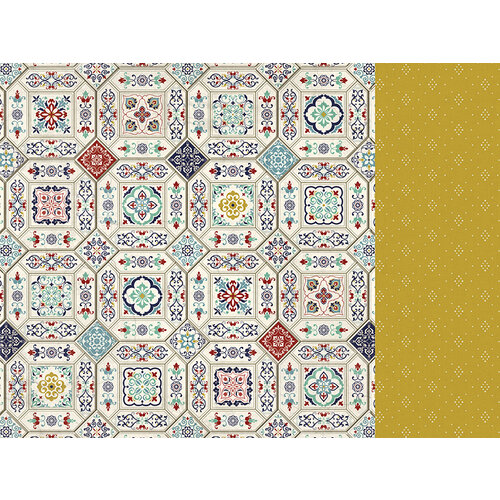 Kaisercraft - Grand Bazaar Collection - 12 x 12 Double Sided Paper - Ceramic Tiles