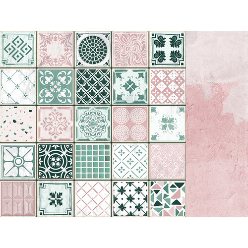 Kaisercraft - Lily and Moss Collection - 12 x 12 Double Sided Paper - Pink Plaster