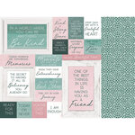 Kaisercraft - Lily and Moss Collection - 12 x 12 Double Sided Paper - Circular