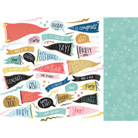 Kaisercraft - Oh Happy Day Collection - 12 x 12 Double Sided Paper - Time to Party
