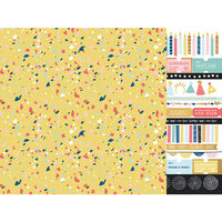 Kaisercraft - Oh Happy Day Collection - 12 x 12 Double Sided Paper - Party Popper