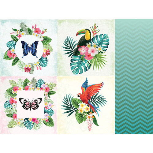 Kaisercraft - Sunkissed Collection - 12 x 12 Double Sided Paper - Pineapple Sour