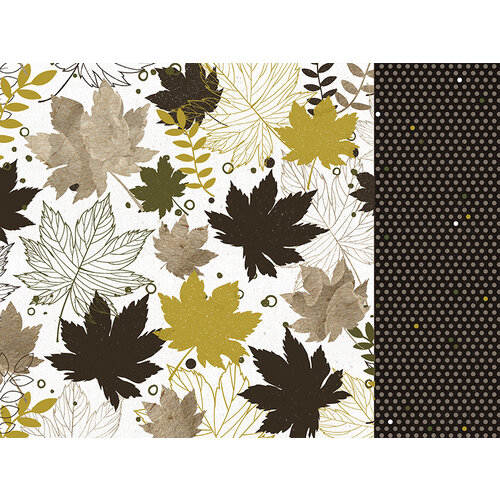 Kaisercraft - Fallen Leaves Collection - 12 x 12 Double Sided Paper - Crunchy Leaves