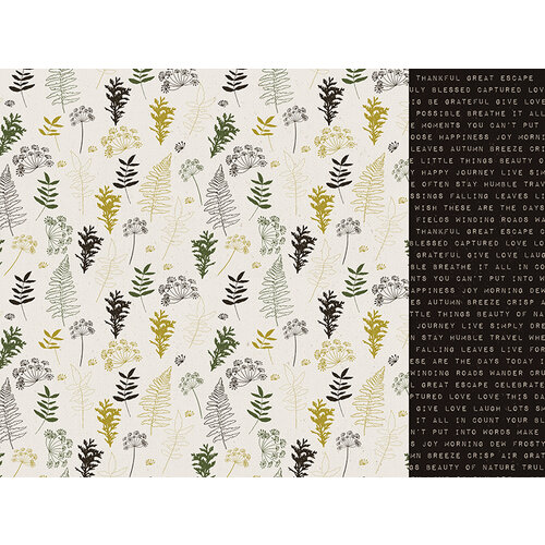 Kaisercraft - Fallen Leaves Collection - 12 x 12 Double Sided Paper - Winding Road