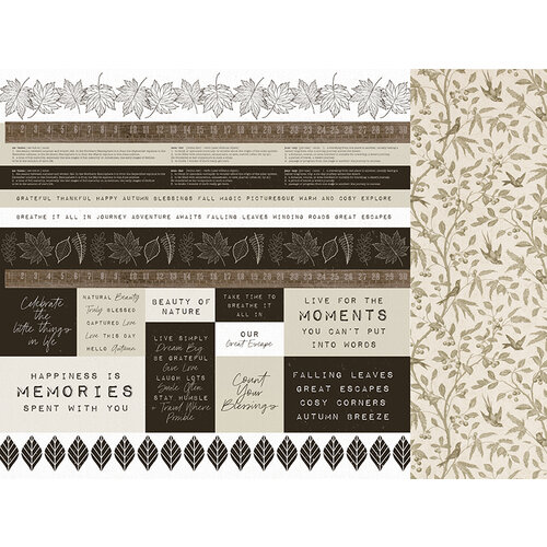 Kaisercraft - Fallen Leaves Collection - 12 x 12 Double Sided Paper - Frosty Field