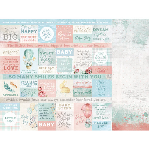 Kaisercraft - Little Treasures Collection - 12 x 12 Double Sided Paper - Mother's Love
