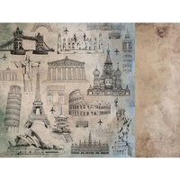 Kaisercraft - Explorer Collection - 12 x 12 Double Sided Paper - Landmarks