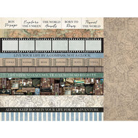 Kaisercraft - Explorer Collection - 12 x 12 Double Sided Paper - District