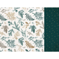 Kaisercraft - Emerald Eve Collection - 12 x 12 Double Sided Paper - Christmas Pine