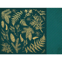 Kaisercraft - Emerald Eve Collection - Christmas - 12 x 12 Double Sided Paper - Emerald Leaves