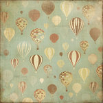 Kaisercraft - Up, Up and Away Collection - 12 x 12 Double Sided Paper - Moon Ride