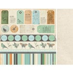 Kaisercraft - Secret Bird Society Collection - 12 x 12 Double Sided Paper - Conceal