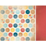 Kaisercraft - Seaside Collection - 12 x 12 Double Sided Paper - Umbrella
