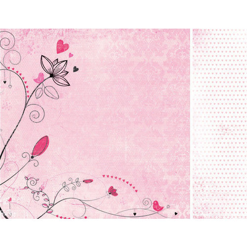 Kaisercraft - Love Notes Collection - Valentine - 12 x 12 Double Sided Paper - Promise