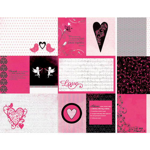 Kaisercraft - Love Notes Collection - Valentine - 12 x 12 Double Sided Paper - Affection