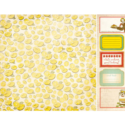 Kaisercraft - Nan's Favourites Collection - 12 x 12 Double Sided Paper - Lemon Slice