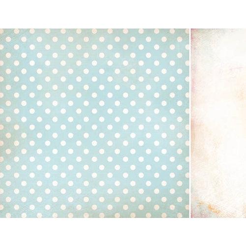 Kaisercraft - Bubblegum Hills Collection - 12 x 12 Double Sided Paper - Blue Lemonade