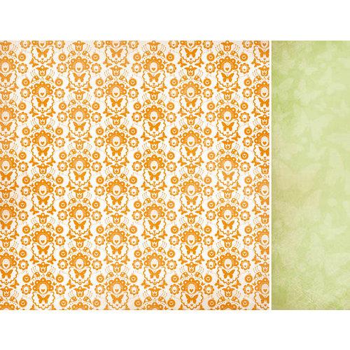 Kaisercraft - Bubblegum Hills Collection - 12 x 12 Double Sided Paper - Orange Pop