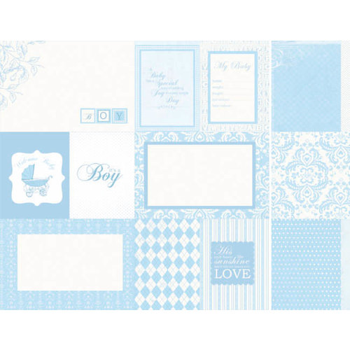 Kaisercraft - Lullaby Collection - 12 x 12 Double Sided Paper - Baby Shower