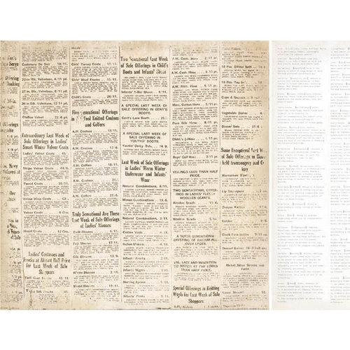 Kaisercraft - Timeless Collection - 12 x 12 Double Sided Paper - Newsprint