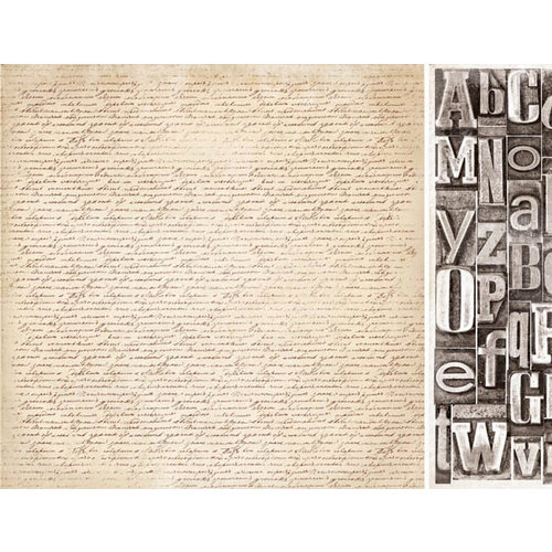 Kaisercraft - Timeless Collection - 12 x 12 Double Sided Paper - Script