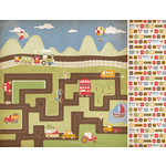 Kaisercraft - Little Toot Collection - 12 x 12 Double Sided Paper - Honk