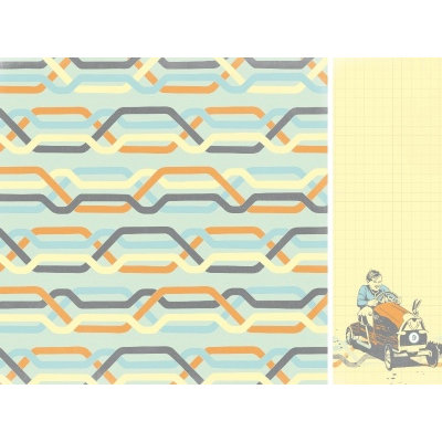 Kaisercraft - On the Move Collection - 12 x 12 Double Sided Paper - Full Tank