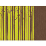 Kaisercraft - Tiny Woods Collection - 12 x 12 Double Sided Paper - Pine