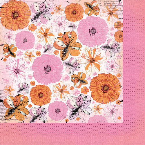 Kaisercraft - Tigerlilly Collection - 12 x 12 Double Sided Paper - Blossom