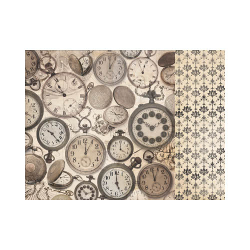 Kaisercraft - Timeless Collection - 12 x 12 Double Sided Paper - Fob Watch