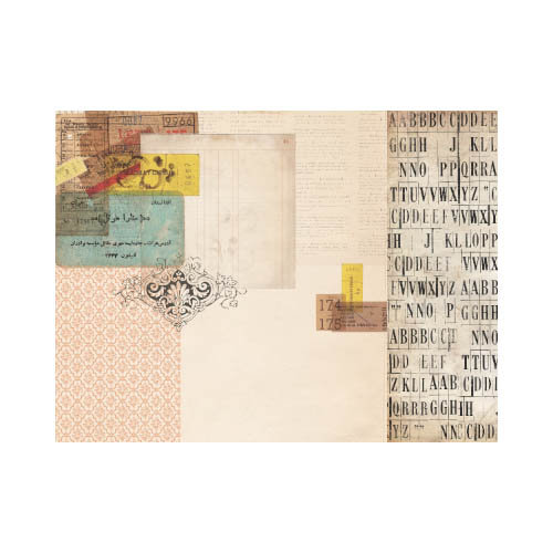 Kaisercraft - Timeless Collection - 12 x 12 Double Sided Paper - Tickets