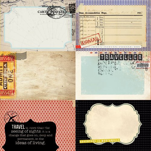 Kaisercraft - Check-in Collection - 12 x 12 Double Sided Paper - Voyage