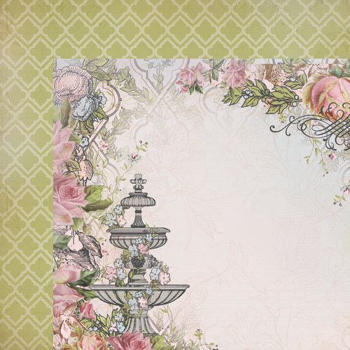 Kaisercraft - The Lakehouse Collection - 12 x 12 Double Sided Paper - Serenity