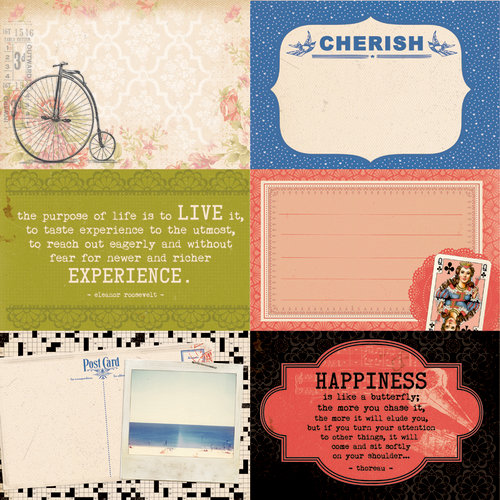 Kaisercraft - Miss Match Collection - 12 x 12 Double Sided Paper - Clutter