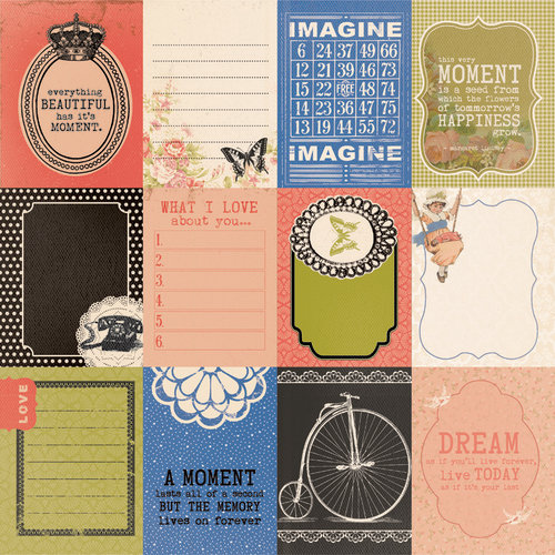 Kaisercraft - Miss Match Collection - 12 x 12 Double Sided Paper - Knick Knacks