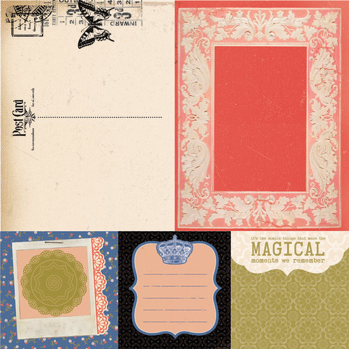 Kaisercraft - Miss Match Collection - 12 x 12 Double Sided Paper - Trinkets
