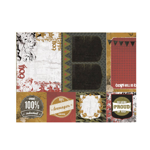 Kaisercraft - Attitude! Collection - 12 x 12 Double Sided Paper - What's Up?