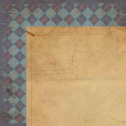 Kaisercraft - Sears and Son Collection - 12 x 12 Double Sided Paper - Trilby