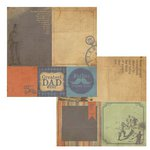 Kaisercraft - Sears and Son Collection - 12 x 12 Double Sided Paper - Sidecar
