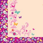 Kaisercraft - Butterfly Kisses Collection - 12 x 12 Double Sided Paper - Birdy