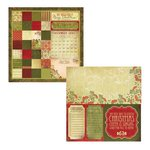 Kaisercraft - Twig and Berry Collection - Christmas - 12 x 12 Double Sided Paper - Hallelujah