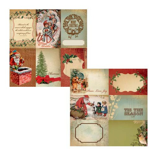Kaisercraft - Turtle Dove Collection - Christmas - 12 x 12 Double Sided Paper - Pipers